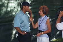 Tiger and Donna Caponi